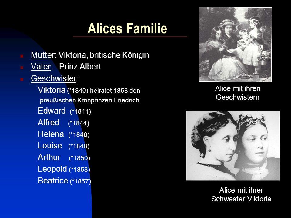 Alice und Prinz Ludwig IV. von Hessen 1. Juli 1862 Hochzeit im engsten Kreis