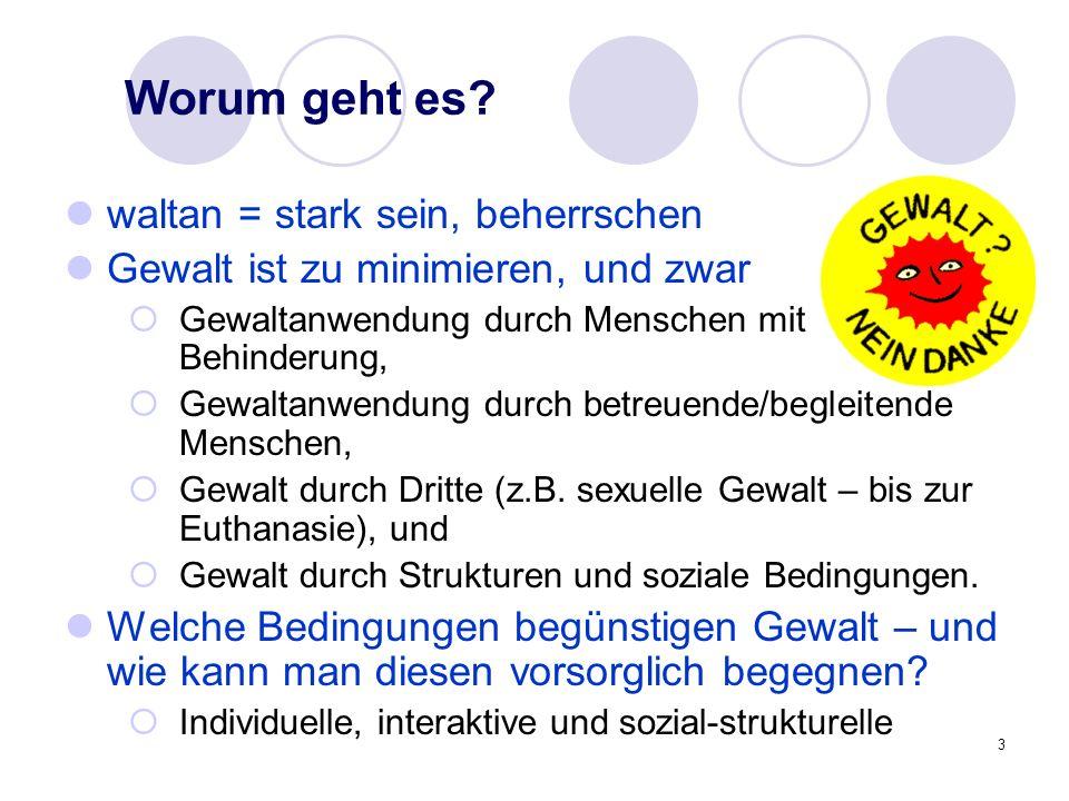 4 Beispiel A: Gewalt in der Pflege Die Achtung der Selbstbestimmung vermeidet Gewalt Frau L.