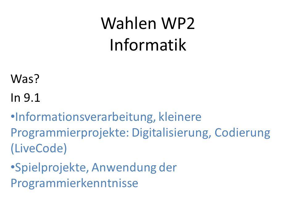 Wahlen WP2 Informatik Was.