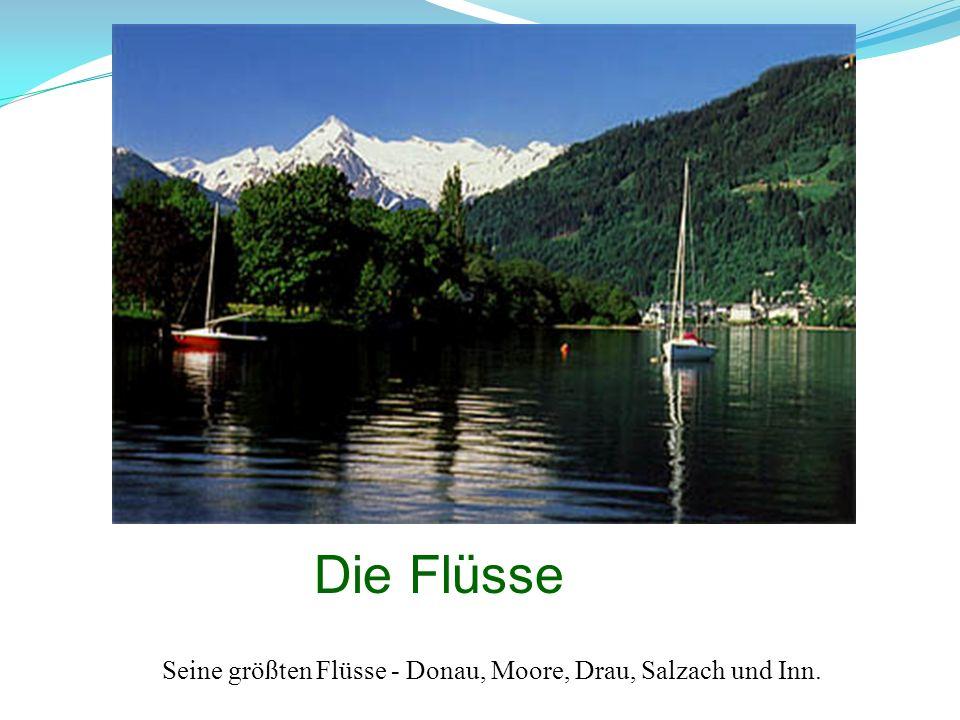 Die Flüsse Seine größten Flüsse - Donau, Moore, Drau, Salzach und Inn.