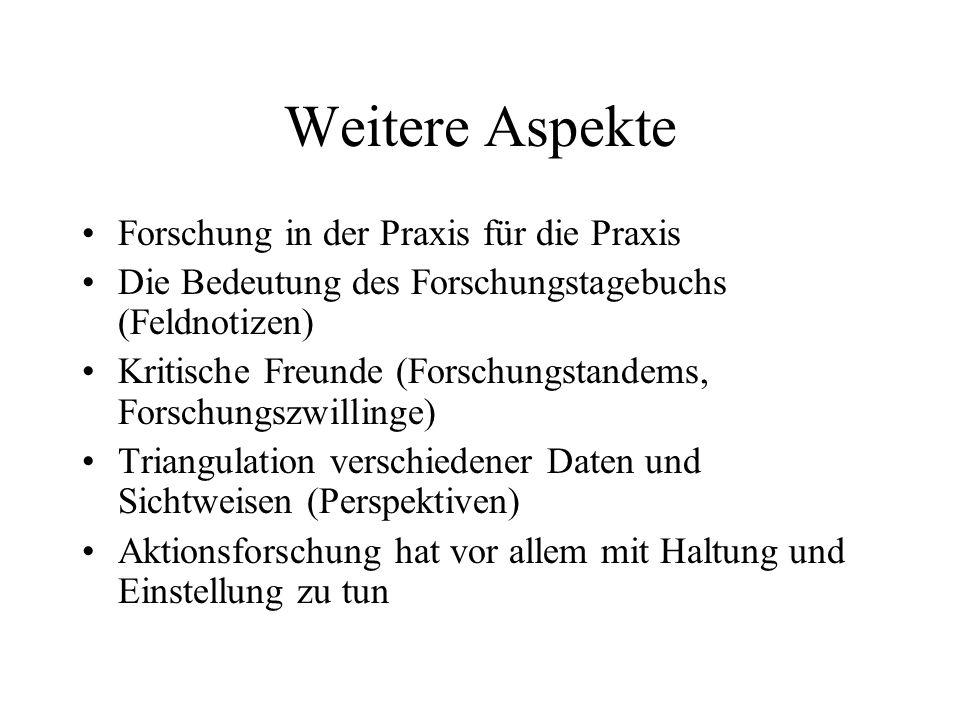 Hauptquelle Altrichter, Herbert/Posch, Peter: Lehrer erforschen ihren Unterricht.