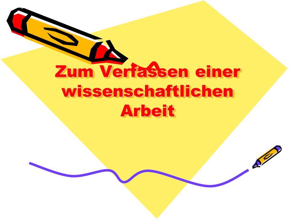 Hauptteil - Aufbau und Gliederung Darstellung des fachtheoretischen Hintergrunds Darstellung der Methode (welche wird verwendet.