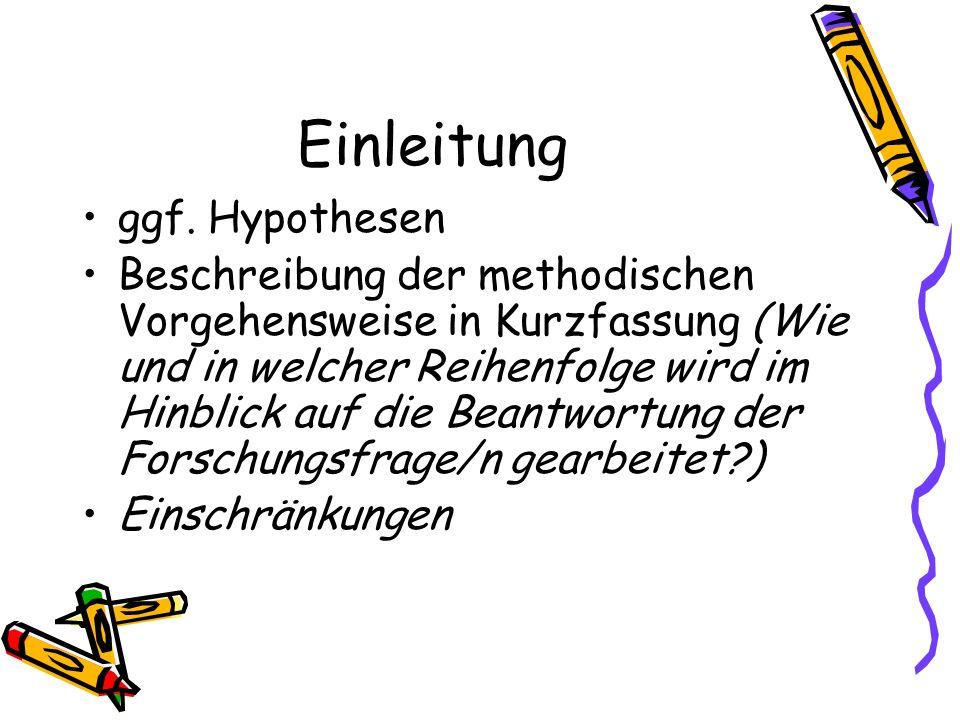Einleitung Begriffsklärungen, Definitionen kurze Darstellung, wie die Arbeit aufgebaut ist