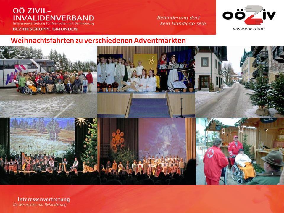 Weihnachtsfahrten zu verschiedenen Adventmärkten