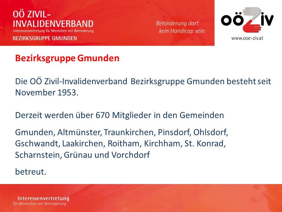 Bezirksgruppe Gmunden.