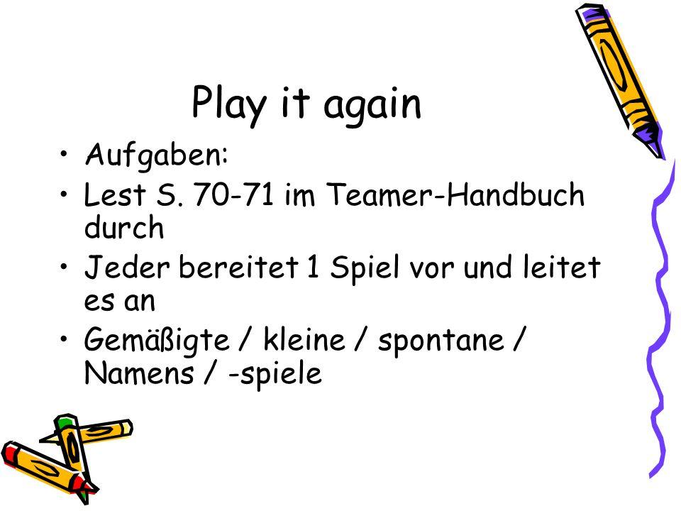 Play it again Aufgaben: Lest S.