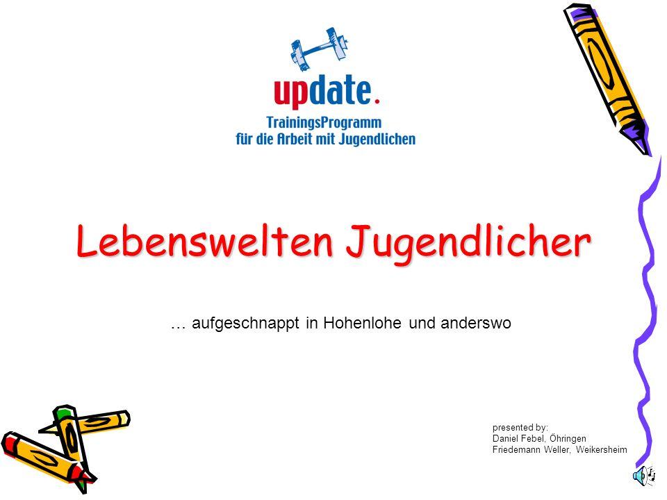 Lebenswelten Jugendlicher … aufgeschnappt in Hohenlohe und anderswo presented by: Daniel Febel, Öhringen Friedemann Weller, Weikersheim