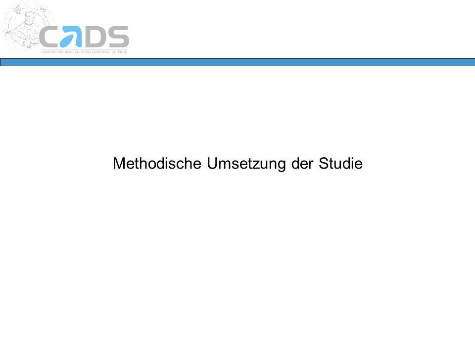 Methodische Umsetzung der Studie