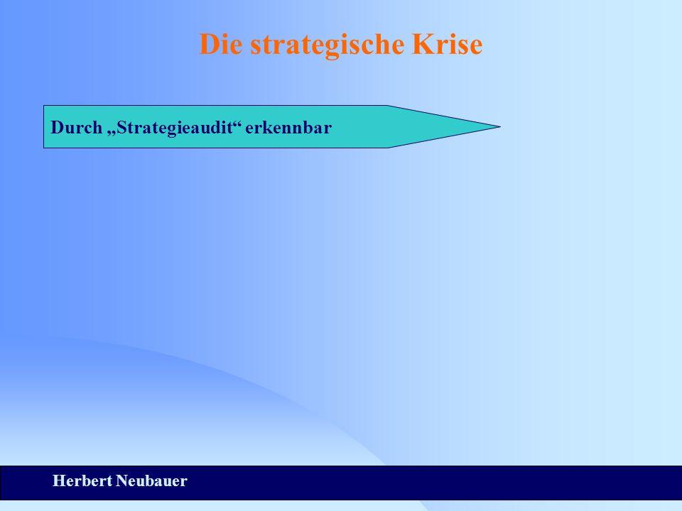 Herbert Neubauer Die strategische Krise Durch Strategieaudit erkennbar