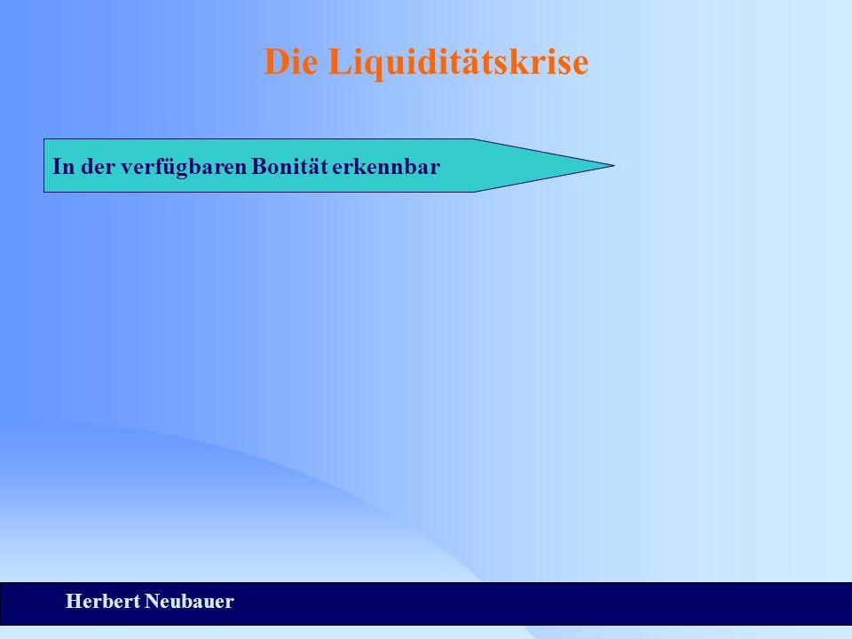 Herbert Neubauer Die Liquiditätskrise In der verfügbaren Bonität erkennbar