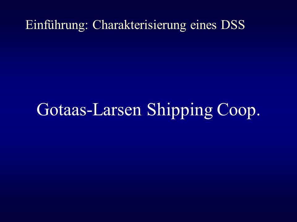 Gotaas-Larsen Shipping Coop. Einführung: Charakterisierung eines DSS