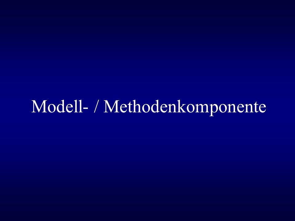 Aufgabe eines Modells/einer Methode in einem DSS –Erkenntnis neuer Informationen –Erklärung und Demonstration –Variation und/oder Optimierung –Projektierung und Planung –Steuerung und Überwachung