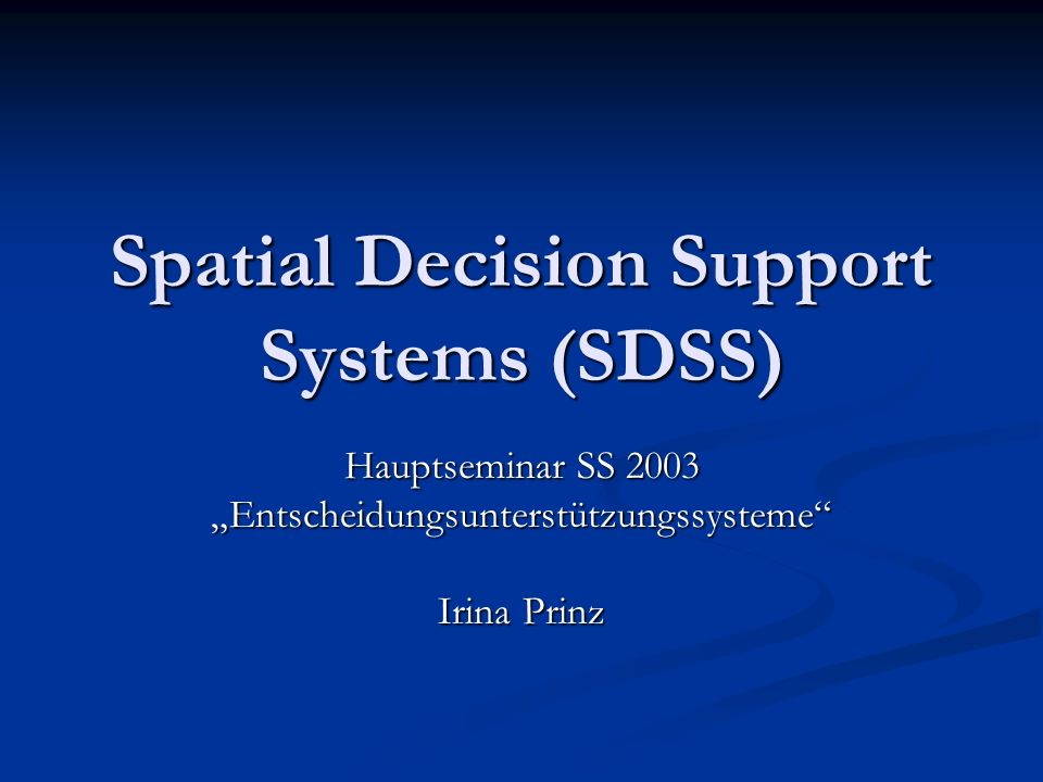 GIS = SDSS .