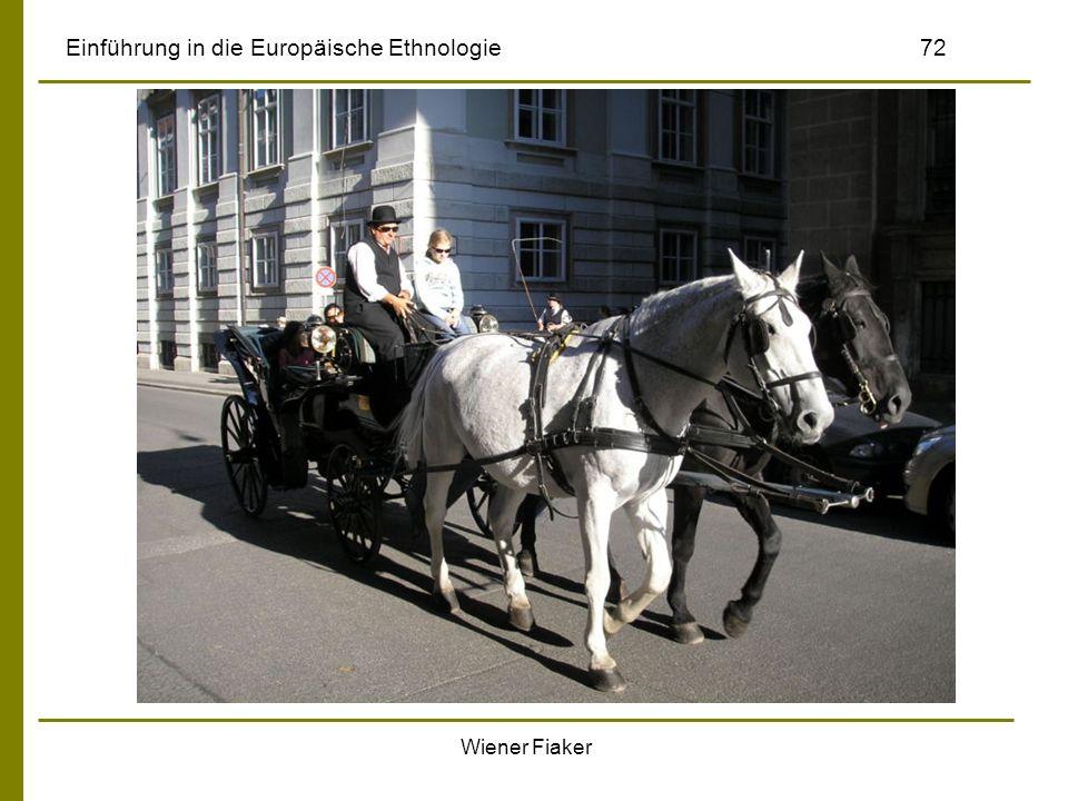 Wiener Fiaker Einführung in die Europäische Ethnologie72
