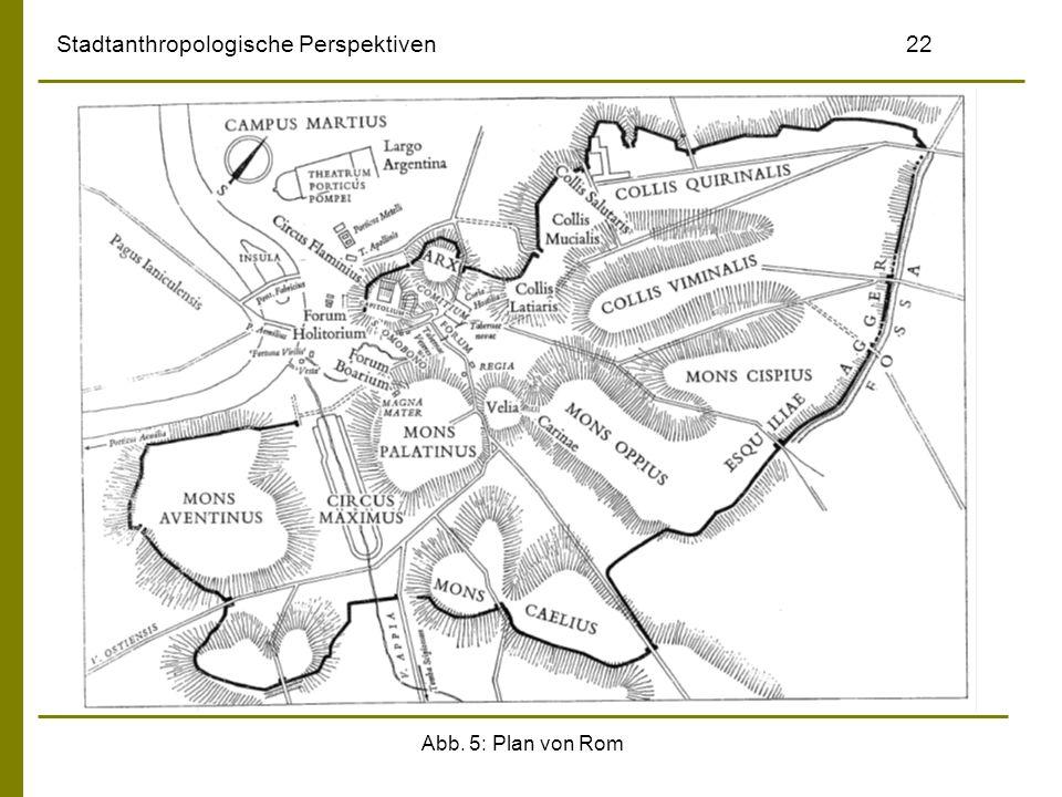 Abb. 5: Plan von Rom Stadtanthropologische Perspektiven 22
