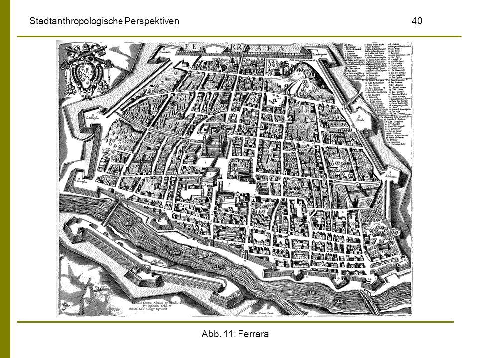 Abb. 11: Ferrara Stadtanthropologische Perspektiven 40