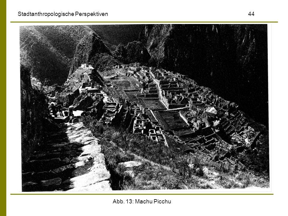 Abb. 13: Machu Picchu Stadtanthropologische Perspektiven 44