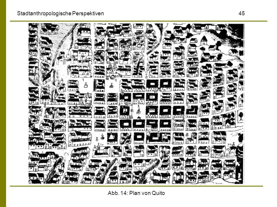 Abb. 14: Plan von Quito Stadtanthropologische Perspektiven 45