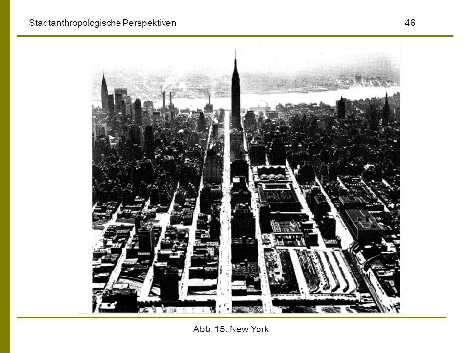 Abb. 15: New York Stadtanthropologische Perspektiven 46