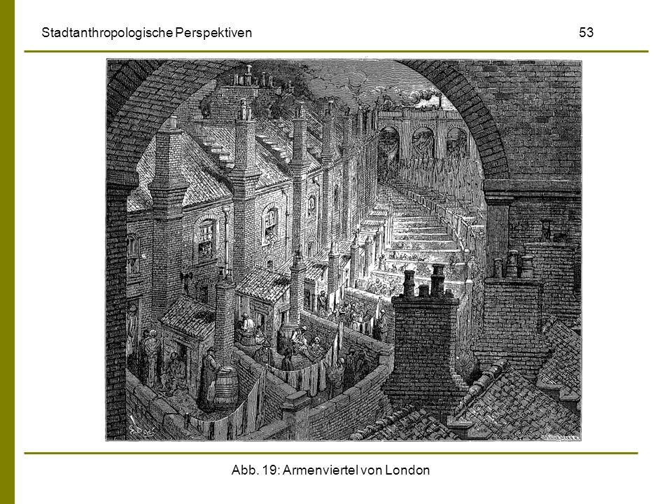 Abb. 19: Armenviertel von London Stadtanthropologische Perspektiven 53