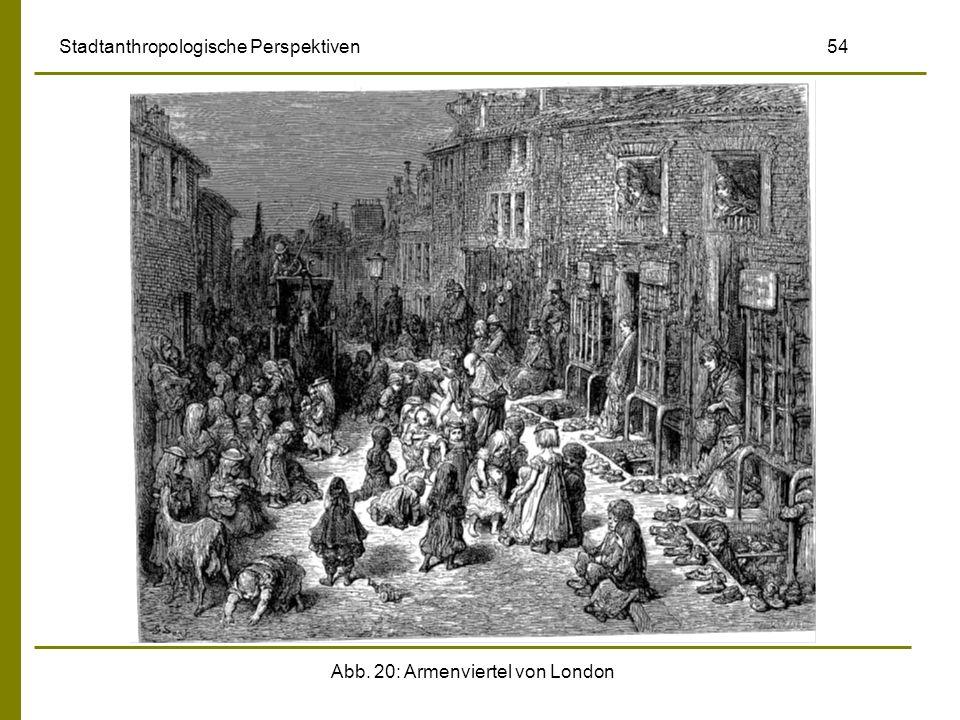 Abb. 20: Armenviertel von London Stadtanthropologische Perspektiven 54