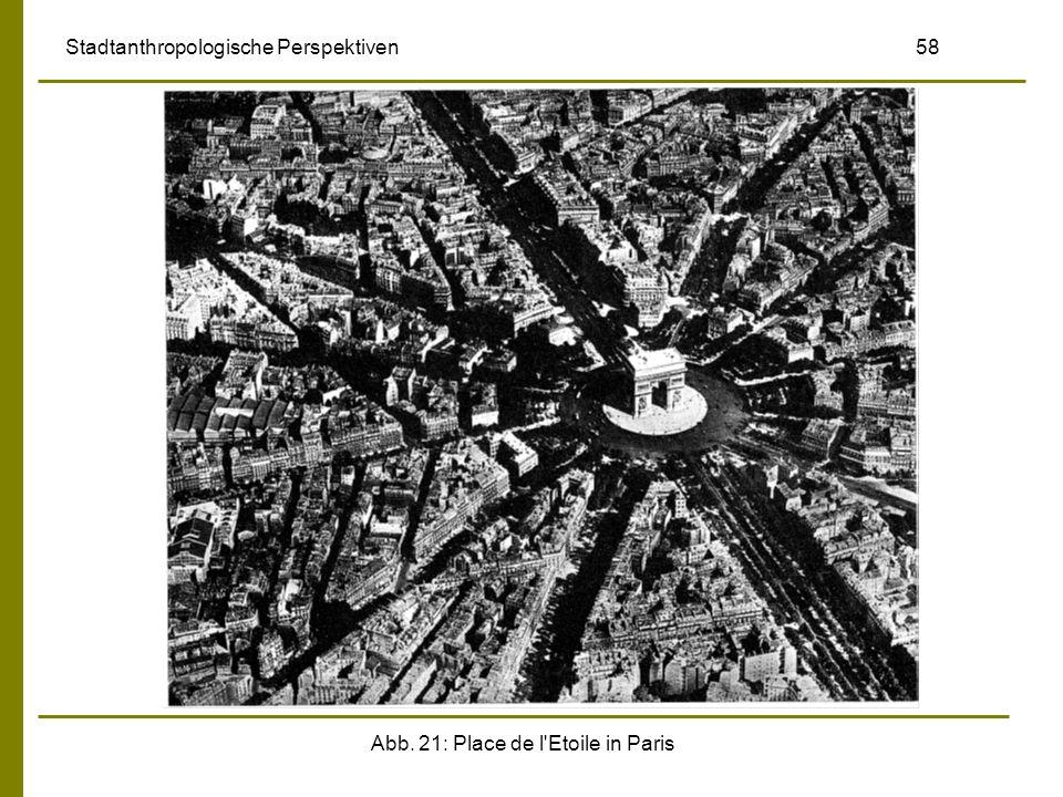 Abb. 21: Place de l'Etoile in Paris Stadtanthropologische Perspektiven 58