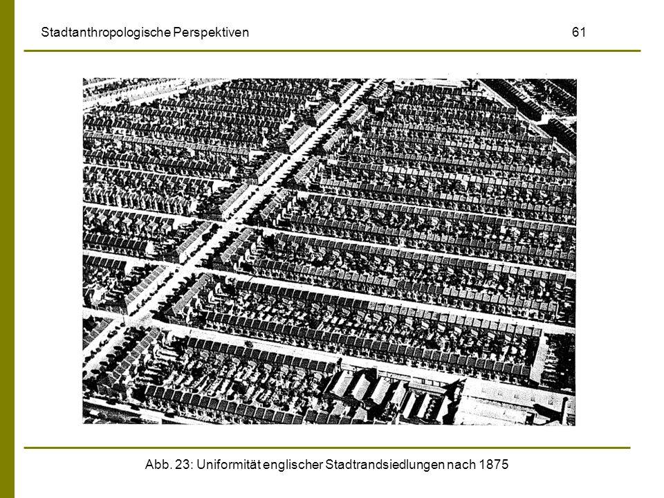 Abb. 23: Uniformität englischer Stadtrandsiedlungen nach 1875 Stadtanthropologische Perspektiven 61