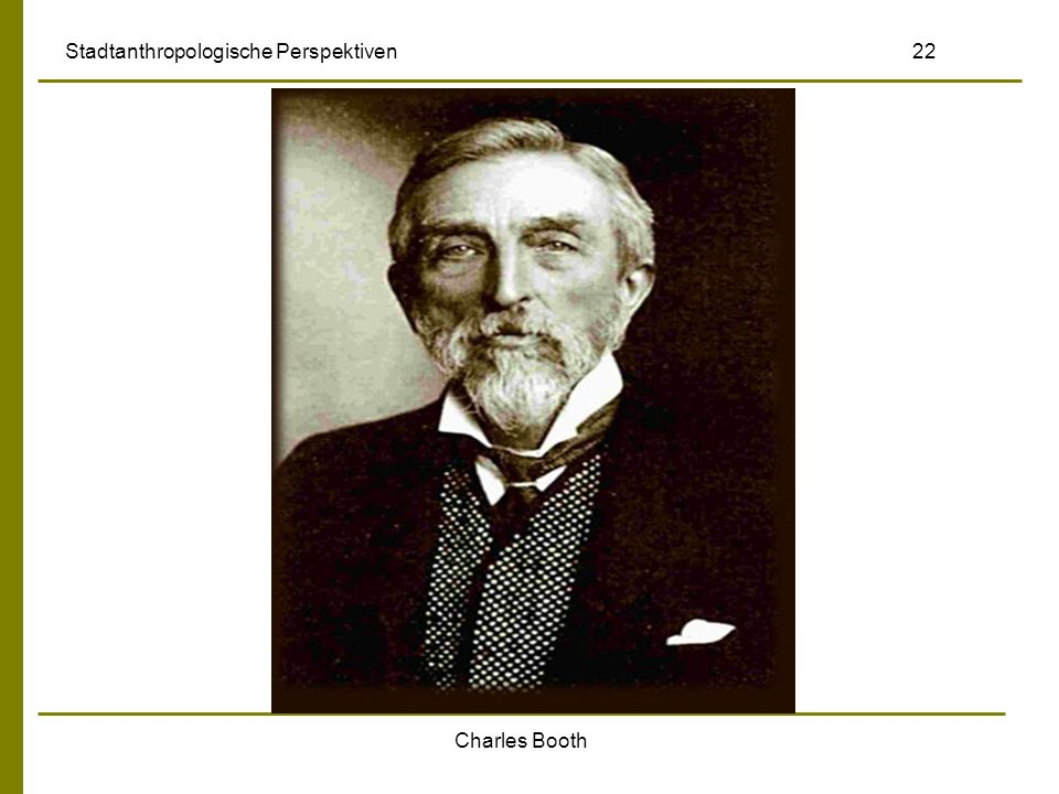 Charles Booth Stadtanthropologische Perspektiven 22
