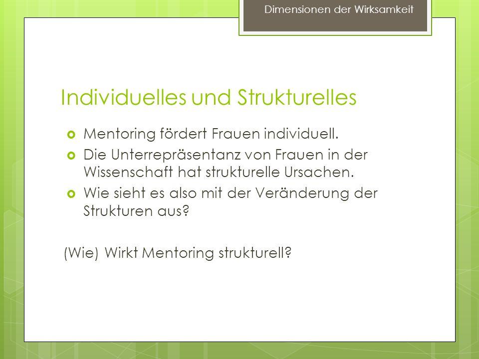 Dimensionen struktureller Wirkung 1.Institutionelle Verankerung 2.