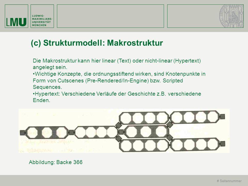 # Seitennummer (c) Strukturmodell: Makrostruktur Die Makrostruktur kann hier linear (Text) oder nicht-linear (Hypertext) angelegt sein. Wichtige Konze