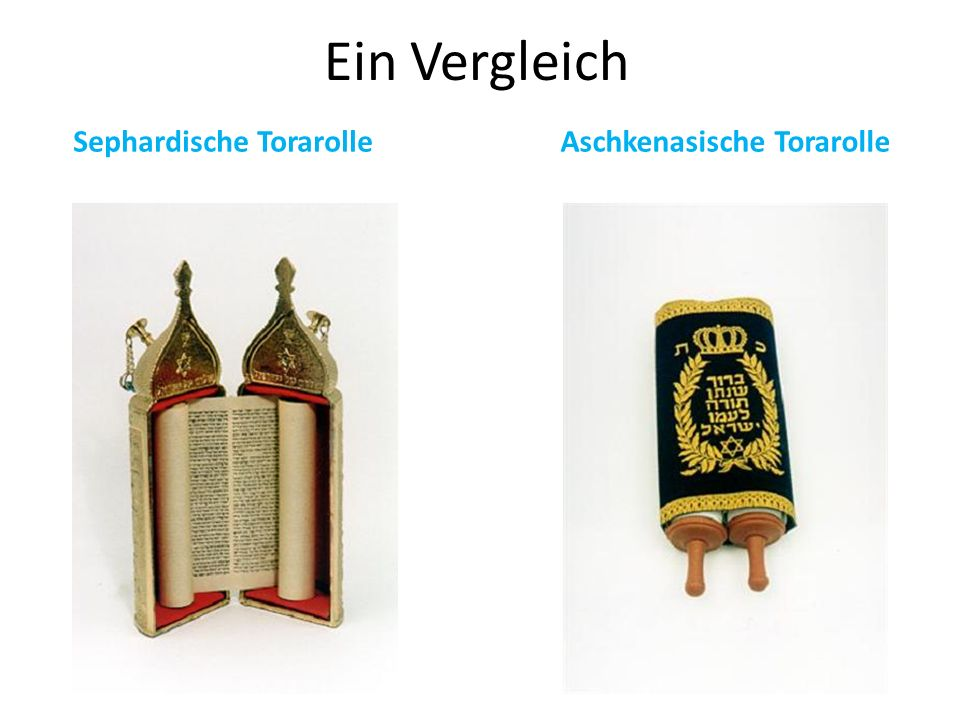 Ein Vergleich Sephardische TorarolleAschkenasische Torarolle
