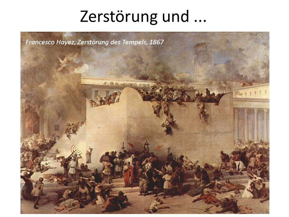 Zerstörung und... Francesco Hayez, Zerstörung des Tempels, 1867