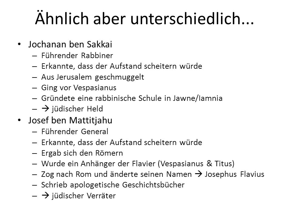 Das rabbinische Judentum Spross der Pharisäer (die letzte Gruppe).