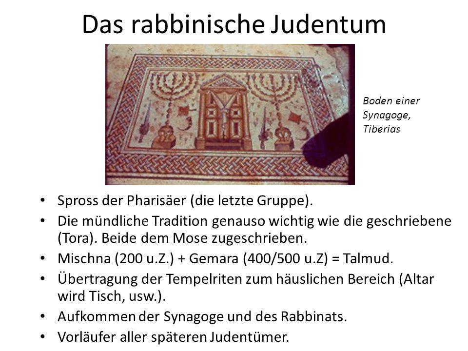 Introvertiertes Judentum Obwohl einige Rabbiner (z.B.