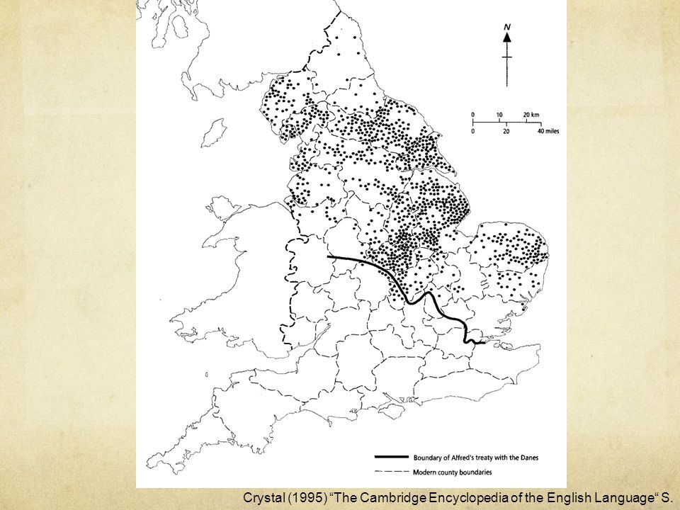 Crystal (1995) The Cambridge Encyclopedia of the English Language S.