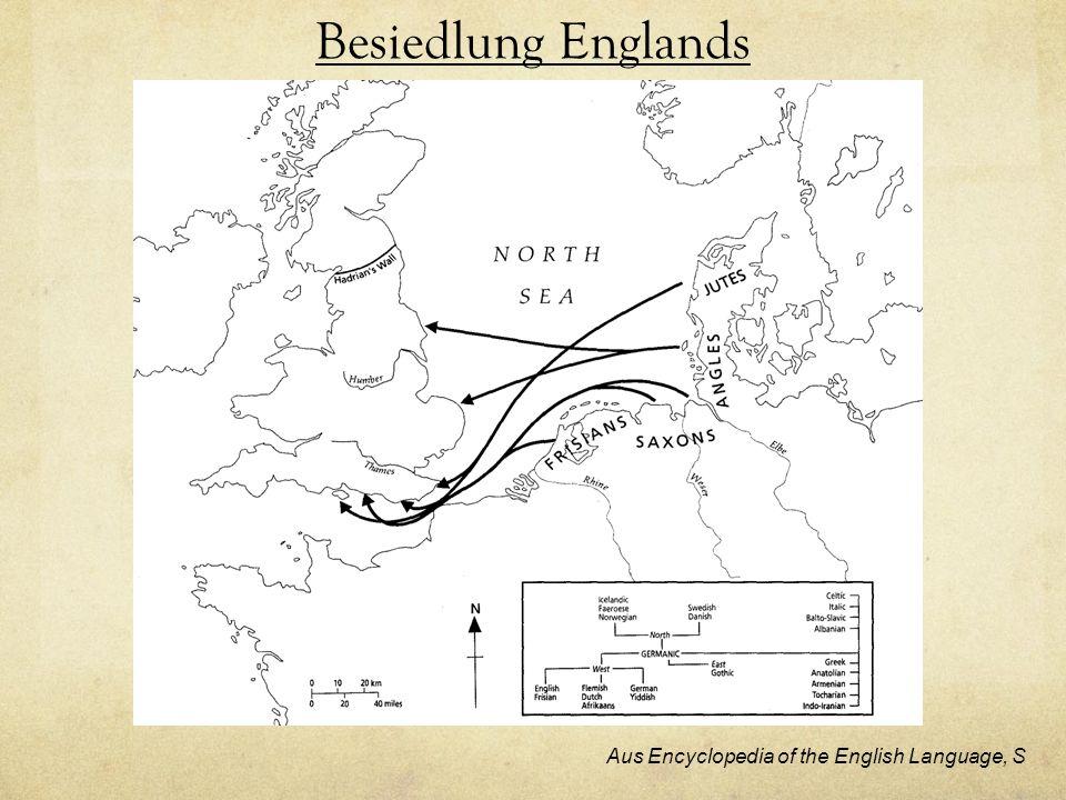 Besiedlung Englands Aus Encyclopedia of the English Language, S