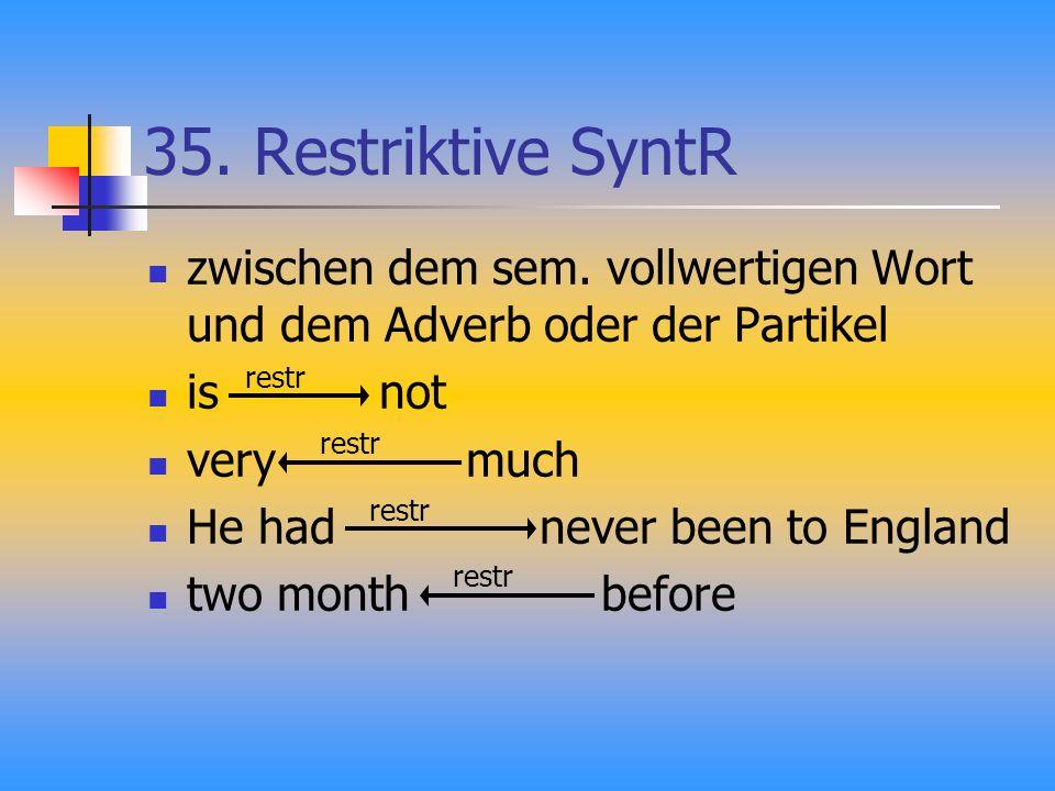 35.Restriktive SyntR zwischen dem sem.