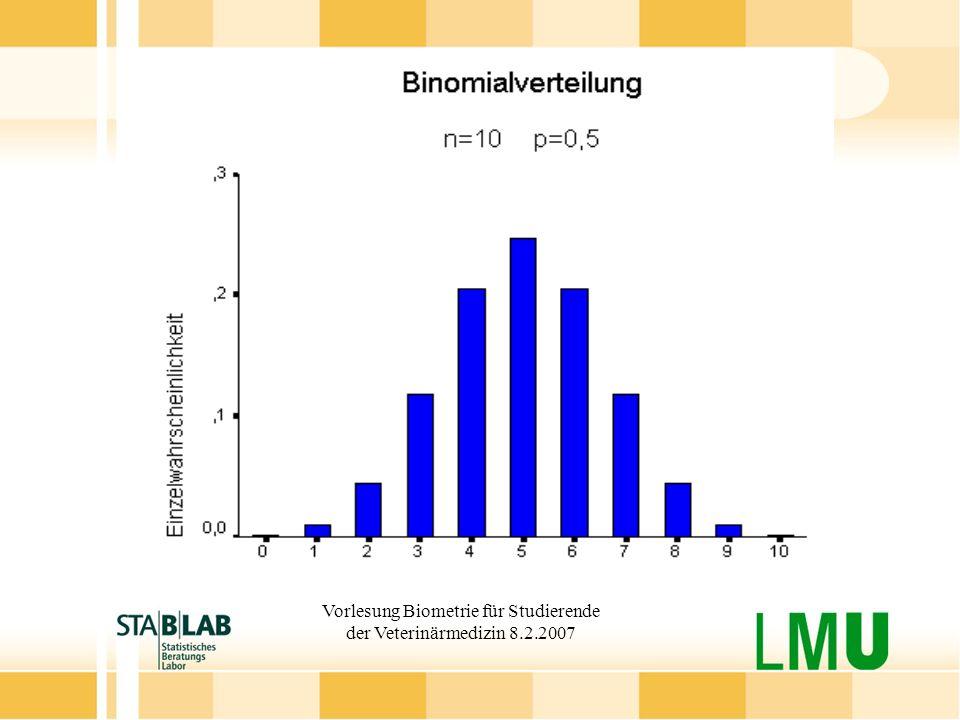 Vorlesung Biometrie für Studierende der Veterinärmedizin 8.2.2007