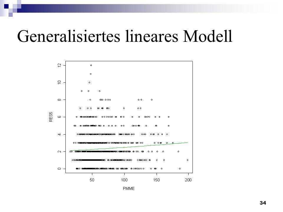 34 Generalisiertes lineares Modell