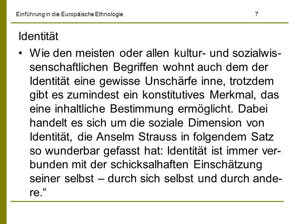 Einführung in die Europäische Ethnologie 58 Ein weiterer bedeutender Strang neuer volks- kundlicher Forschung zeigte sich am Tübinger Ludwig-Uhland-Institut.