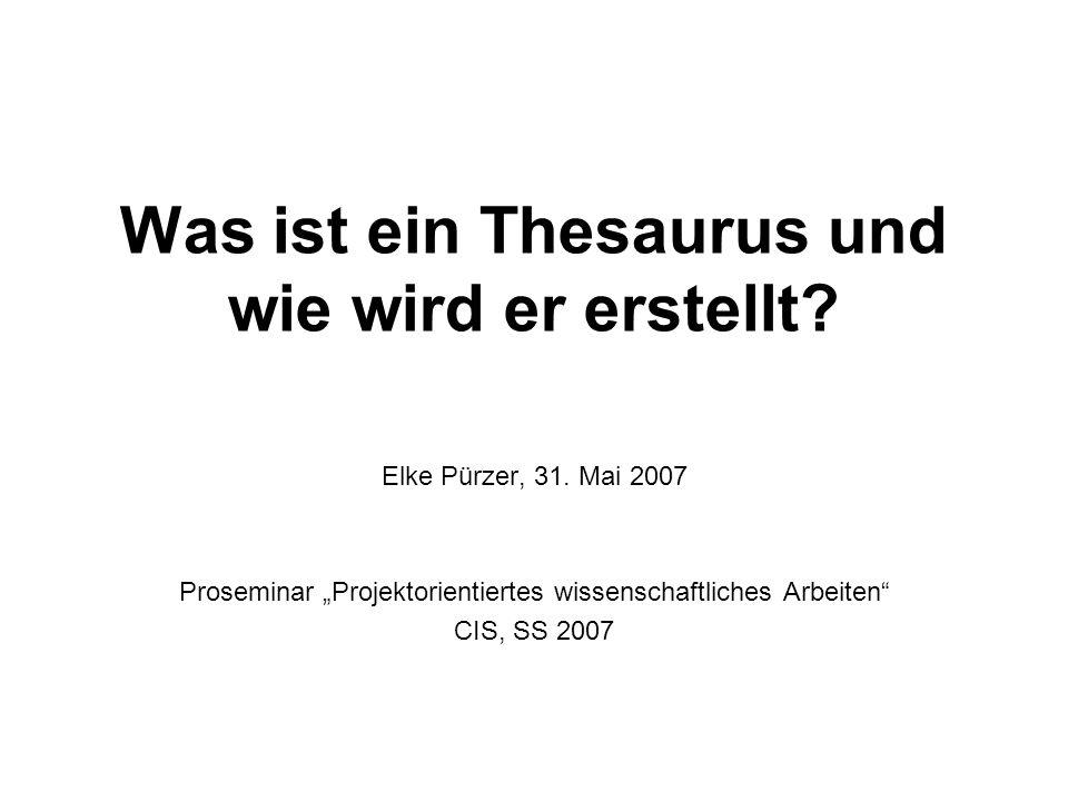 Etymologie Thesaurus The|sau|rus der; -, Plur....ren u....ri : 1.