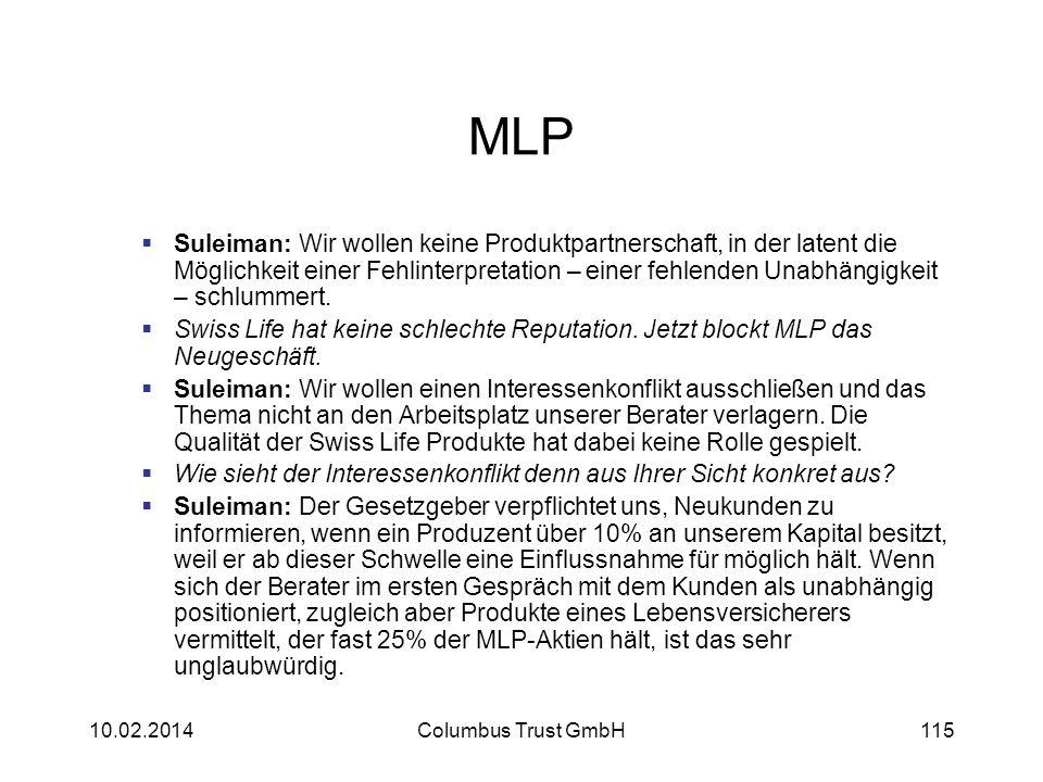MLP Suleiman: Wir wollen keine Produktpartnerschaft, in der latent die Möglichkeit einer Fehlinterpretation – einer fehlenden Unabhängigkeit – schlumm