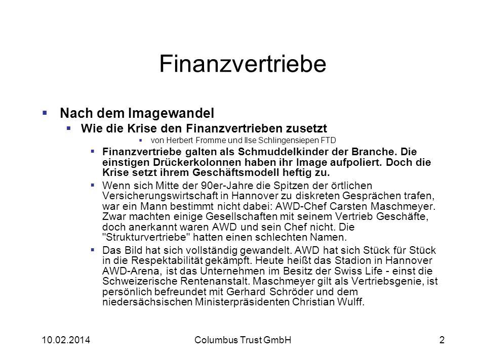 Finanzvertriebe Nach dem Imagewandel Wie die Krise den Finanzvertrieben zusetzt von Herbert Fromme und Ilse Schlingensiepen FTD Finanzvertriebe galten
