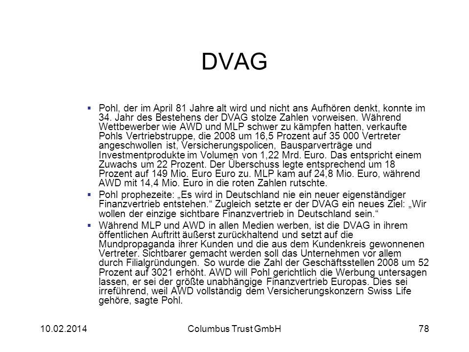 DVAG Pohl, der im April 81 Jahre alt wird und nicht ans Aufhören denkt, konnte im 34. Jahr des Bestehens der DVAG stolze Zahlen vorweisen. Während Wet