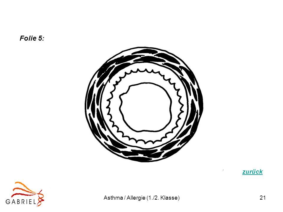 Asthma / Allergie (1./2. Klasse)21 Folie 5: zurück