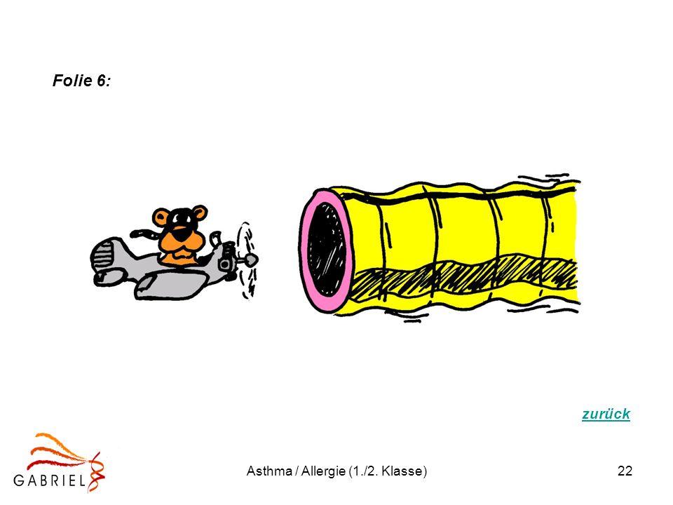 Asthma / Allergie (1./2. Klasse)22 zurück Folie 6: