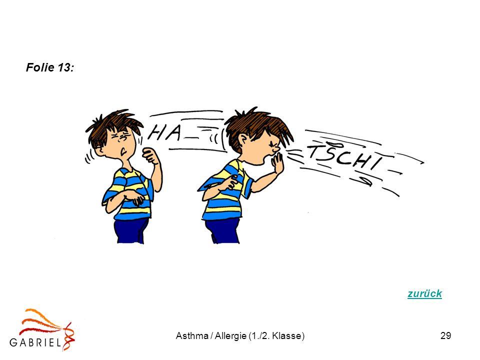 Asthma / Allergie (1./2. Klasse)29 zurück Folie 13:
