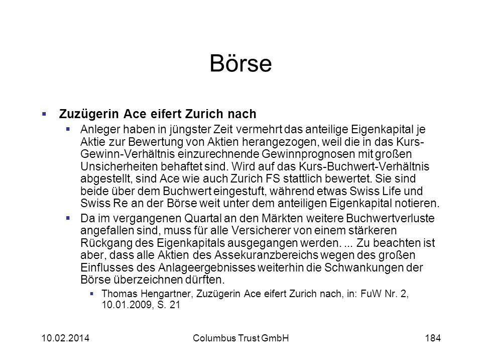 Börse Zuzügerin Ace eifert Zurich nach Anleger haben in jüngster Zeit vermehrt das anteilige Eigenkapital je Aktie zur Bewertung von Aktien herangezog