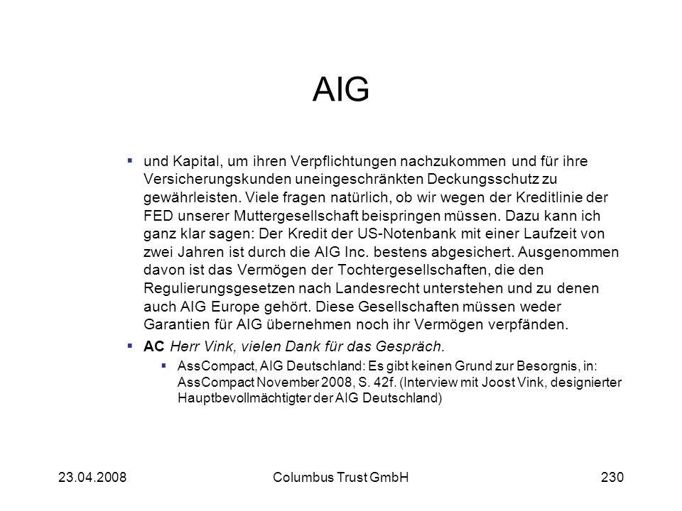AIG und Kapital, um ihren Verpflichtungen nachzukommen und für ihre Versicherungskunden uneingeschränkten Deckungsschutz zu gewährleisten. Viele frage