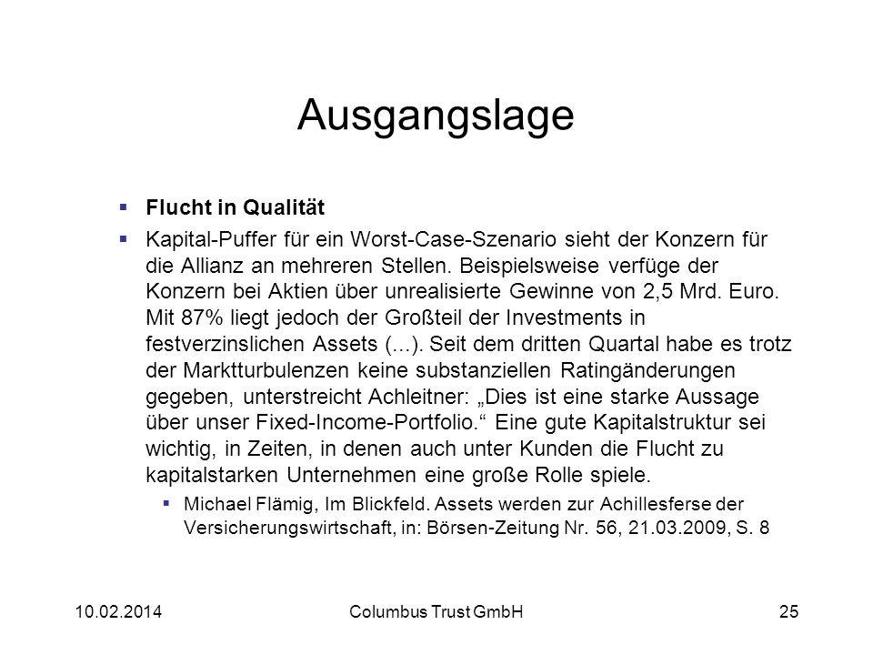 Ausgangslage Flucht in Qualität Kapital-Puffer für ein Worst-Case-Szenario sieht der Konzern für die Allianz an mehreren Stellen. Beispielsweise verfü